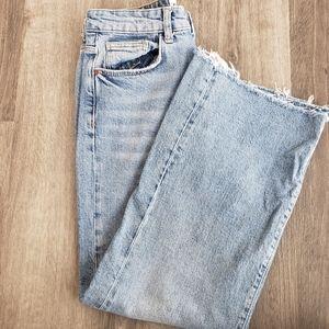 Zara Wide Cropped Leg Jeans